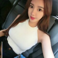 Women Knitted Blouses Cotton Vest Womens Off Shoulder Sexy Tops Woman Clothing