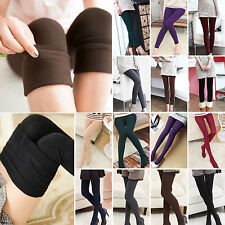 Womens Winter Warm Fleece Thermal Stretchy Thick Full Length Footless Leggings