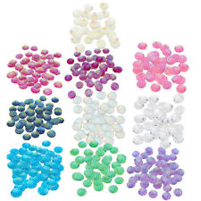 50x Striped Resin Flatback Cabochon Buttons for Jewelry Making Craft DIY 12mm