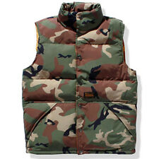 Mens Winter Down Cotton Waistcoat Motorcycle Casual vest Jacket Quilted Padded