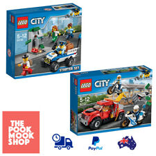 City Police [LEGO] Minifigures Toys Block Motorcycle Truck Kids Play, Set, Gifts
