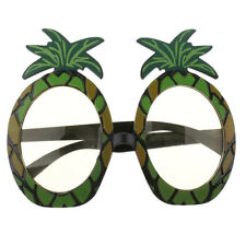Novelty Tropical Pineapple Sunglasses Hawaiian Summer Beach Party Glasses Yellow