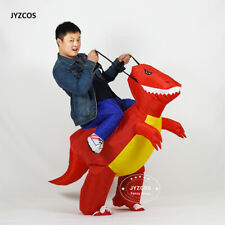 Inflatable Dinosaur Costumes Kids Adult  Ride on Blow Up Xmas Halloween Purim