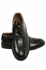 Scottish New Ghillie Brogues Kilt Leather Shoes with Leather Sole UK Size 6 - 12