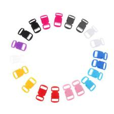 """20pcs 3/8"""" 10mm Mixed Curved Side Release Plastic Buckles for Paracord Bracelets"""