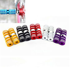 """2pcs Cycling BMX Bike Bicycle Cylinder Aluminum Alloy 3/8"""" Axle Foot Pegs LTBLBD"""