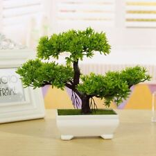 Plastic Artificial Tree Plants Ceramics Bonsai Tree Pot Culture For Office Home