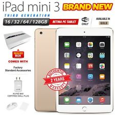 New Factory Sealed APPLE iPad Mini 3rd Gen Gold Retina PC Tablet (WiFi Only)