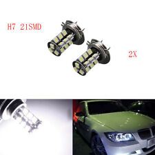 2x H7 27 SMD CANBUS FOGLIGHT LED H7 HEADLIGHT BULB XENON WHITE ERROR FREE