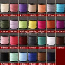 90Meters / Roll Faux Suede Leather Cord Thread Flat For DIY Jewelry Making 3mm