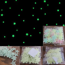 100PCS Wall Glow In The Dark Stars Stickers Kids Room Nursery Room Ceiling Decor