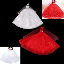 Handmade Barbie Doll Sequins Wedding Dress Party Gown Doll Clothes Gift BH