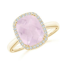 2.8 Ctw Rose Quartz Cocktail Ring 14k Yellow Gold Size 3-13