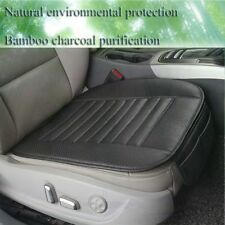 Leather Bamboo Charcoal Cushion Non-Slip Protector Mat Car Front Seats Cover