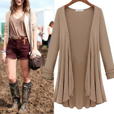 Women Fashion Top Slim Blouse Long Sleeve Cardigan Sweater Coat