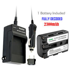 Kastar 1 Battery & Normal Charger kit for Sony NP-FM50 NP-FM55H NP-QM51