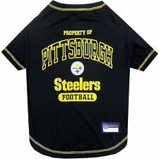 NEW Property Of Pittsburgh Steelers NFL Dogs T-Shirt Black Offical Licensed