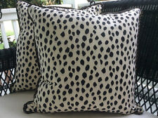 Ballard Designs Dodie Fabric Pillow Cover in Black and Cream
