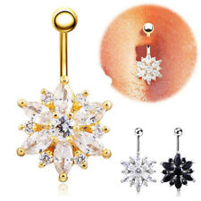 1PC Punk Crystal Rhinestone Belly Button Navel Body Piercing Ring Punk Gift