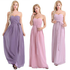 Women's Long Chiffon Evening Party Cocktail Bridesmaid Prom Gown Dress Clubwear