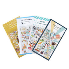 2x Vintage Travel Food DIY Decoration PVC Stickers For Diary Scrapbooking Gift.