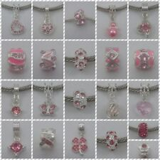 ~ Pink Style Rhinestone Charms ~ FOR CHARM BRACELETS ~ Organza Gift Bag ~