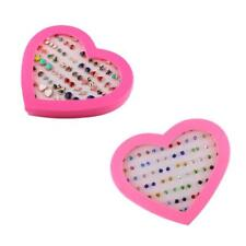 36Pairs Bling Assorted Stud Earrings Bulk for Women GirlS with A Heart Box