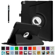 """For Apple iPad 9.7"""" 2017 iPad 2/3/4 Case 360 Rotating Leather Cover + Stylus Pen"""