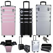 Pro Cosmetics Beauty Case Makeup Box Organiser Trolley Travel Carry Bag 4 in 1