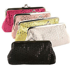EG_ Women Sequins Buckle Clutch Evening Party Bag Handbag Wallet Purse Perfect