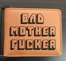 Brown Bad Mother F*cker Wallet Leather As Seen in Pulp Fiction