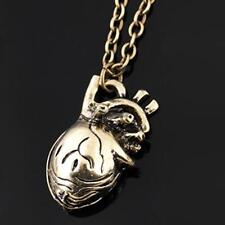 Vintage Steampunk Style Hollow Out Heart Shape Pendant Necklace Gifts WT88