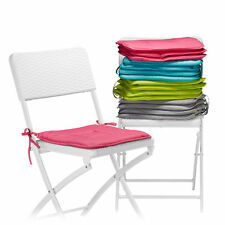 Set of 4 Seat Cushions, Washable, Colourful, Chair Pillows, 38 x 38 cm