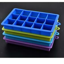 Silicone Ice Cube Trays 15 Cube Trays Ice Maker Cocktail Ice Cube Mold