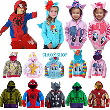 Boys Girls Casual Hoodies Coat Jacket Cartoon Cosplay Costumes Cotton Hooded Top