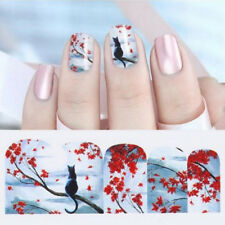 Nail Art Water Decals Transfers Stickers Paris Holidays Cute Cat Valentines