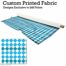 ARGYLE BLUE DESIGN PRINTED FABRIC LYCRA JERSEY SPANDEX FROM PER METRE