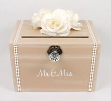 Money Box for Wedding, Vintage Wedding Card Box, Vintage Card Holder, Pearl Card