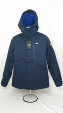 NWT Hollister by A&F Men All-Weather Fleece-Lined Jacket Coat Navy - Size S