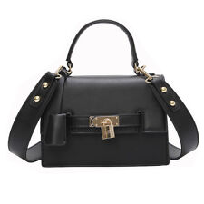 Female Lock Shoulder Bag Fashion Brand Handbag Women Simple Black Crossbody Bag
