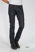 RICK OWENS DRKSHDW New Man UNWASHED BLUE 18cm Denim DETROIT CUT Jeans Italy Made