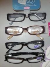 Lot of 4 Pairs +2.50 Foster Grant Ladies Handcrafted Fun Frames Reading Glasses