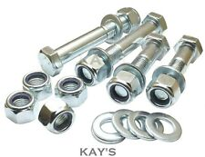 M10 PART THREADED HEX HEAD BOLTS + NYLOC NUTS + WASHERS HIGH TENSILE 8.8 ZINC
