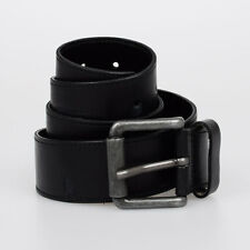 DIESEL New Man Black Leather B-EXPOSE BELT Italy Made