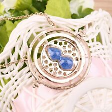 Cool Fashion Magic Time Turner Necklace Rotating Spins Hourglass Necklace KZ