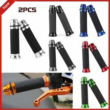 "Motorcycle CNC Aluminum Rubber Gel Hand Grips for 7/8"" Handle Bar Bike Bicycle ~"