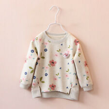 Toddler Kids Baby Girls Floral Printing Long Sleeve Warm Tops T-Shirt Blouses WH