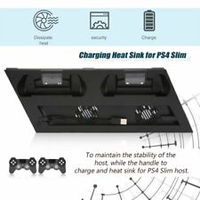 Vertical Stand Dock Cooling Fan For PS4 Slim Controller Charger Playstation IN