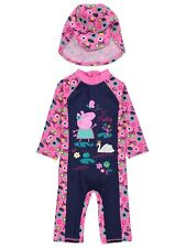 Girls UV Swimsuit Peppa Pig Sun Protection Sunsafe Surfsuit NEW BNWT