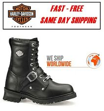 Harley-Davidson® D91003 Mens Faded Glory Black Leather Motorcycle Riding Boots
